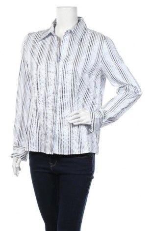 Дамска риза Marco Pecci, Размер XL, Цвят Бял, 53% полиестер, 44% памук, 3% еластан, Цена 7,56лв.
