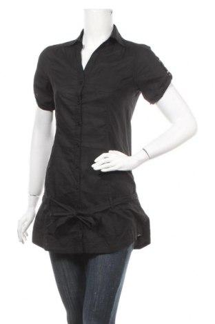 Дамска риза Mim, Размер M, Цвят Черен, Памук, Цена 19,64лв.