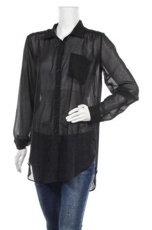 Дамска риза Rue 21, Размер L, Цвят Черен, Полиестер, Цена 5,67лв.