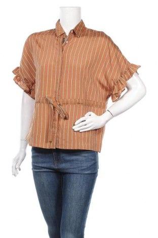 Дамска риза Studio, Размер M, Цвят Кафяв, 72% вискоза, 18% полиамид, 10% полиестер, Цена 28,50лв.