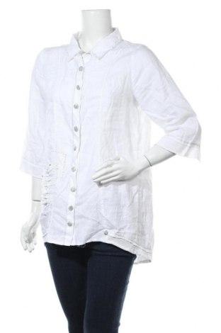 Γυναικείο πουκάμισο Tredy, Μέγεθος S, Χρώμα Λευκό, Λινό, Τιμή 11,59€