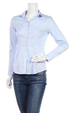 Дамска риза Yessica, Размер S, Цвят Син, 76% памук, 21% полиамид, 3% еластан, Цена 11,34лв.