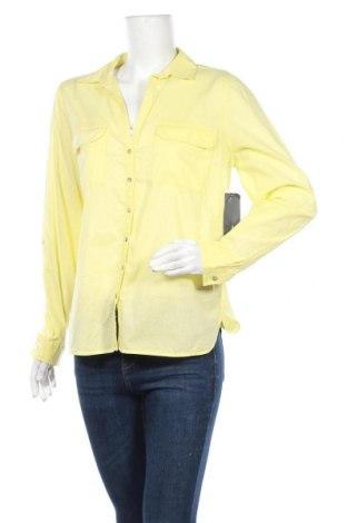 Дамска риза Yessica, Размер L, Цвят Жълт, Памук, Цена 13,44лв.