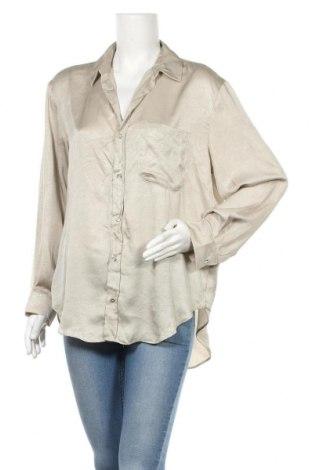 Дамска риза Zara, Размер M, Цвят Бежов, Полиестер, Цена 17,10лв.