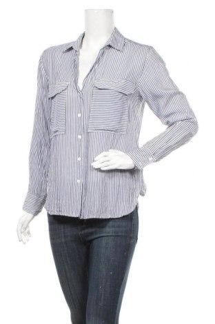 Дамска риза Zara, Размер S, Цвят Син, Вискоза, Цена 7,56лв.
