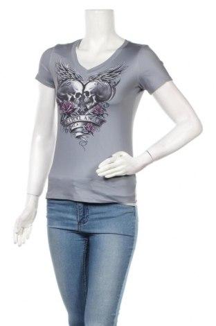 Дамска тениска, Размер S, Цвят Сив, 88% полиестер, 12% еластан, Цена 19,50лв.