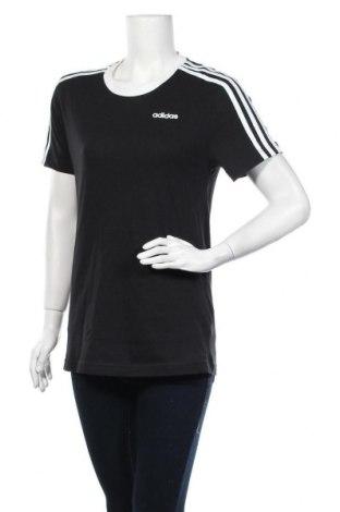 Γυναικείο t-shirt Adidas, Μέγεθος XS, Χρώμα Μαύρο, Βαμβάκι, Τιμή 17,34€