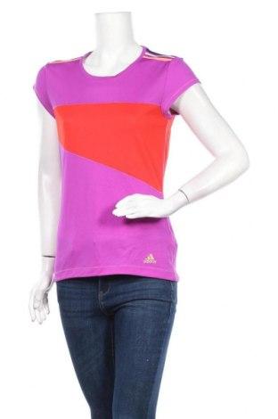 Дамска тениска Adidas, Размер S, Цвят Лилав, 95% полиестер, 5% еластан, Цена 13,44лв.