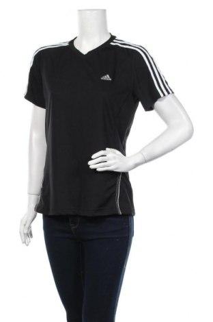 Γυναικείο t-shirt Adidas, Μέγεθος L, Χρώμα Μαύρο, 95% πολυεστέρας, 5% ελαστάνη, Τιμή 10,49€