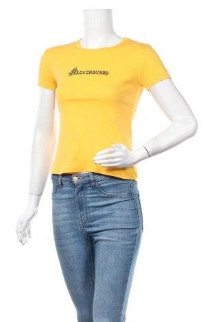 Дамска тениска Background, Размер S, Цвят Жълт, 100% памук, Цена 6,62лв.