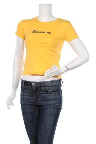 Дамска тениска Background, Размер S, Цвят Жълт, Памук, Цена 13,65лв.