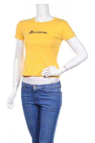 Дамска тениска Background, Размер M, Цвят Жълт, Памук, Цена 14,70лв.