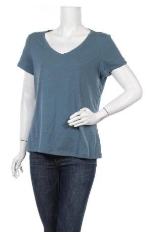 Дамска тениска C&A, Размер L, Цвят Син, 95% памук, 5% еластан, Цена 10,24лв.