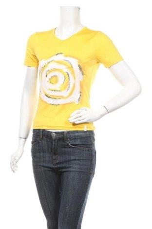 Дамска тениска Crane, Размер S, Цвят Жълт, 88% полиамид, 12% еластан, Цена 6,72лв.