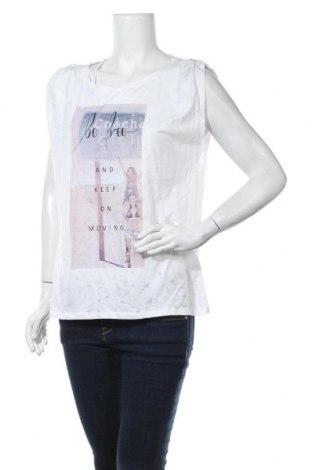 Дамска тениска Edc By Esprit, Размер L, Цвят Бял, 100% полиестер, Цена 13,39лв.