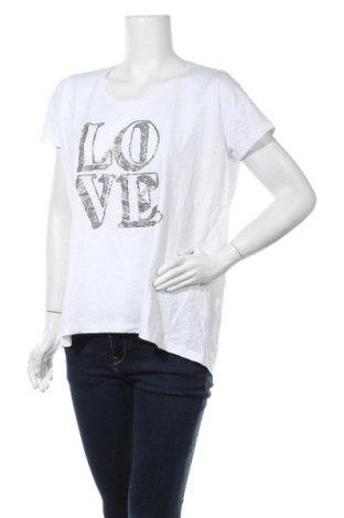 Дамска тениска Gina Benotti, Размер M, Цвят Бял, Памук, Цена 17,85лв.