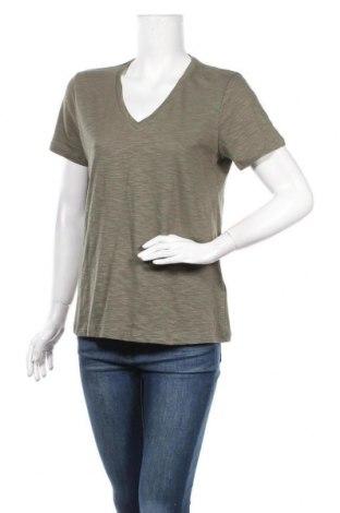 Дамска тениска Hugo Boss, Размер L, Цвят Зелен, Памук, Цена 52,47лв.