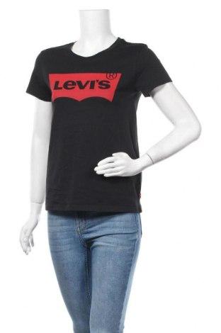 Γυναικείο t-shirt Levi's, Μέγεθος XS, Χρώμα Μαύρο, Βαμβάκι, Τιμή 22,81€
