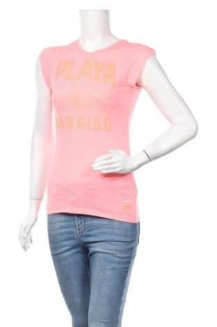 Дамска тениска Lotto, Размер S, Цвят Розов, 65% полиестер, 35% памук, Цена 16,96лв.