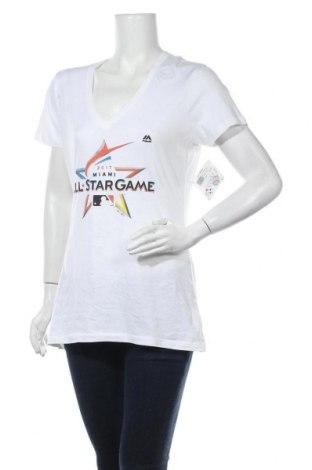 Дамска тениска Majestic, Размер L, Цвят Бял, 100% памук, Цена 16,82лв.