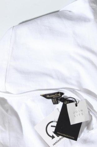 Дамска тениска Massimo Dutti, Размер M, Цвят Бял, 92% памук, 8% еластан, Цена 16,52лв.