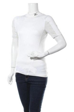 Γυναικείο t-shirt Mizuno, Μέγεθος S, Χρώμα Εκρού, 86% πολυεστέρας, 14% πολυουρεθάνης, Τιμή 6,82€