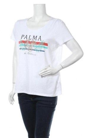Дамска тениска Montego, Размер XL, Цвят Бял, 50% памук, 50% вискоза, Цена 13,00лв.