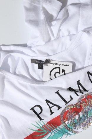 Дамска тениска Montego, Размер S, Цвят Бял, 50% памук, 50% вискоза, Цена 11,18лв.