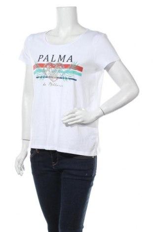 Дамска тениска Montego, Размер M, Цвят Бял, 50% памук, 50% вискоза, Цена 13,00лв.