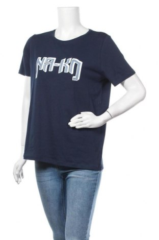 Дамска тениска Na-Kd, Размер L, Цвят Син, Памук, Цена 21,75лв.