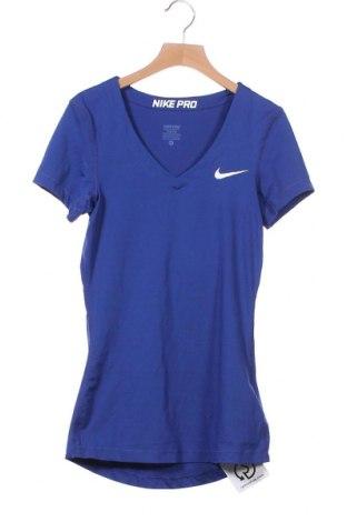 Дамска тениска Nike, Размер XS, Цвят Син, 84% полиестер, 16% еластан, Цена 19,11лв.