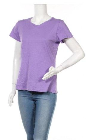 Дамска тениска Oviesse, Размер L, Цвят Лилав, Памук, Цена 11,81лв.