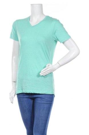 Дамска тениска Pull&Bear, Размер S, Цвят Зелен, Цена 7,56лв.