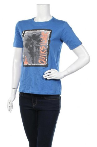 Γυναικείο t-shirt Quiksilver, Μέγεθος L, Χρώμα Μπλέ, Βαμβάκι, Τιμή 12,25€