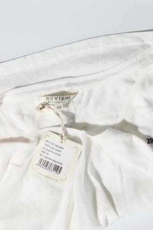Дамска тениска Review, Размер XS, Цвят Бял, 50% памук, 50% модал, Цена 14,62лв.