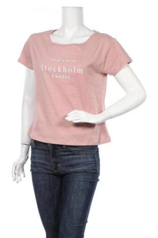 Дамска тениска Review, Размер S, Цвят Розов, Памук, Цена 18,00лв.