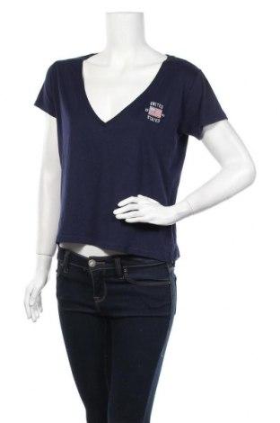 Дамска тениска Review, Размер L, Цвят Син, 50% памук, 50% модал, Цена 16,32лв.