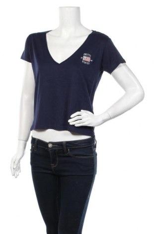Дамска тениска Review, Размер S, Цвят Син, 50% памук, 50% модал, Цена 14,62лв.