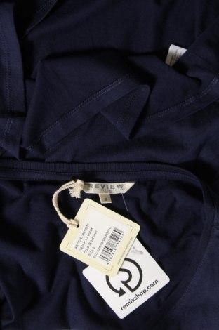 Дамска тениска Review, Размер S, Цвят Син, 50% памук, 50% модал, Цена 16,32лв.