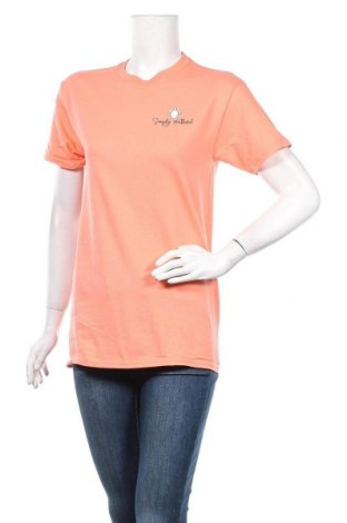 Γυναικείο t-shirt Simply Southern, Μέγεθος S, Χρώμα Πορτοκαλί, Βαμβάκι, Τιμή 4,77€