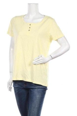 Γυναικείο t-shirt Skin To Skin, Μέγεθος XL, Χρώμα Κίτρινο, Βαμβάκι, Τιμή 8,83€
