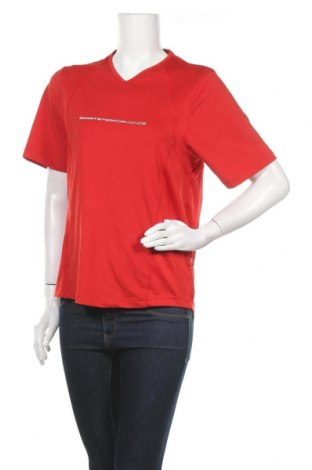 Дамска тениска TCM, Размер M, Цвят Червен, 88% полиестер, 12% еластан, Цена 3,68лв.