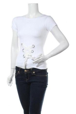 Дамска тениска Tally Weijl, Размер S, Цвят Бял, 95% памук, 5% еластан, Цена 11,81лв.