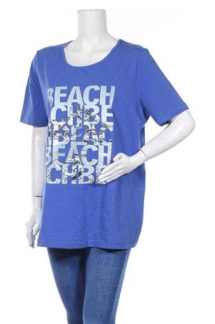 Γυναικείο t-shirt Ulla Popken, Μέγεθος XL, Χρώμα Μπλέ, 92% βαμβάκι, 8% ελαστάνη, Τιμή 11,69€