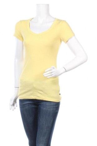 Дамска тениска Vero Moda, Размер M, Цвят Жълт, Памук, Цена 24,15лв.