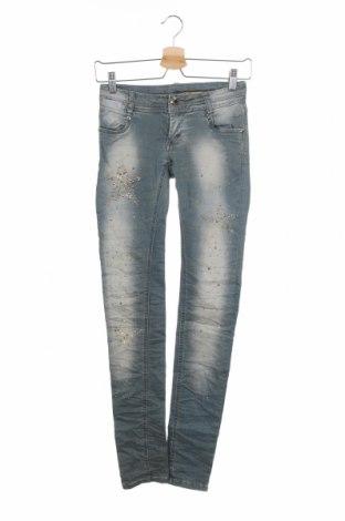 Дамски дънки, Размер S, Цвят Син, 98% памук, 2% еластан, Цена 8,45лв.