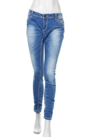 Дамски дънки Amisu, Размер L, Цвят Син, 98% памук, 2% еластан, Цена 25,20лв.
