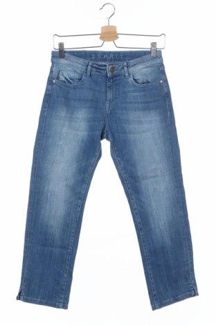Дамски дънки Esprit, Размер XS, Цвят Син, 71% памук, 27% полиестер, 2% еластан, Цена 17,60лв.