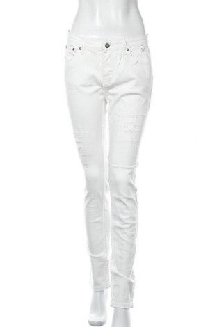 Дамски дънки Esqualo, Размер L, Цвят Бял, 98% памук, 2% еластан, Цена 42,00лв.