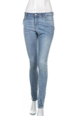 Дамски дънки H&M, Размер M, Цвят Син, 76% памук, 22% полиестер, 2% еластан, Цена 28,35лв.